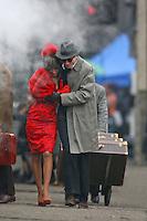 Photo by ©Stephen Daniels<br /> Penelope Cruz & Daniel Day Lewis filming NINE