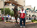 August 15, 2010.Wasted Tears, in the Paddock before the John C. Mabee Stakes, at Del Mar Thoroghbred Club, Del Mar, CA