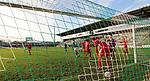 22.11.2020, Dietmar-Scholze-Stadion an der Lohmuehle, Luebeck, GER, 3. Liga, VfB Luebeck vs FC Bayern Muenchen II <br /> <br /> im Bild / picture shows <br /> Tor zum 3:0 . Torschütze/Torschuetze Thorben Deters (VfB Luebeck)  trifft zum 3:0 ins Tor von Torwart Ron-Thorben Hoffmann (FC Bayern Muenchen II) <br /> <br /> DFB REGULATIONS PROHIBIT ANY USE OF PHOTOGRAPHS AS IMAGE SEQUENCES AND/OR QUASI-VIDEO.<br /> <br /> Foto © nordphoto / Tauchnitz