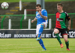 Glentoran v St Johnstone…. 09.07.16  The Oval, Belfast  Pre-Season Friendly<br />Paul Paton and Karl Hamill<br />Picture by Graeme Hart.<br />Copyright Perthshire Picture Agency<br />Tel: 01738 623350  Mobile: 07990 594431