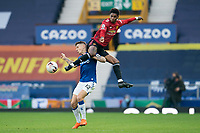 7th November 2020; Liverpool, England; Manchester Uniteds Marcus Rashford R vies with Evertons Lucas Digne during the Premier League match between Everton and Manchester United at Goodison Park Stadium