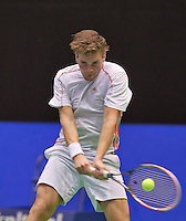 December 17, 2014, Rotterdam, Topsport Centrum, Lotto NK Tennis, Roy de Valk (NED)<br /> Photo: Tennisimages/Henk Koster
