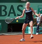 Urszula Radwanska (POL) loses at Roland Garros in Paris, France on May 31, 2012