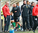 HIBERNIAN ASSISTANT MANAGER BILLY BROWN WONDERS WHAT HE'S LET HIMSELF IN FOR