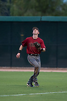 AZL Diamondbacks right fielder Kevin Watson Jr. (7) pursues a fly ball during an Arizona League game against the AZL White Sox at Camelback Ranch on July 12, 2018 in Glendale, Arizona. The AZL Diamondbacks defeated the AZL White Sox 5-1. (Zachary Lucy/Four Seam Images)