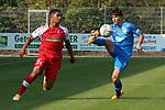 Morris Nag (Nr.8, FC Astoria Walldorf) am Ball  beim Spiel, FC Astoria Walldorf - SC Freiburg II.<br /> <br /> Foto © PIX-Sportfotos *** Foto ist honorarpflichtig! *** Auf Anfrage in hoeherer Qualitaet/Aufloesung. Belegexemplar erbeten. Veroeffentlichung ausschliesslich fuer journalistisch-publizistische Zwecke. For editorial use only. DFL regulations prohibit any use of photographs as image sequences and/or quasi-video.
