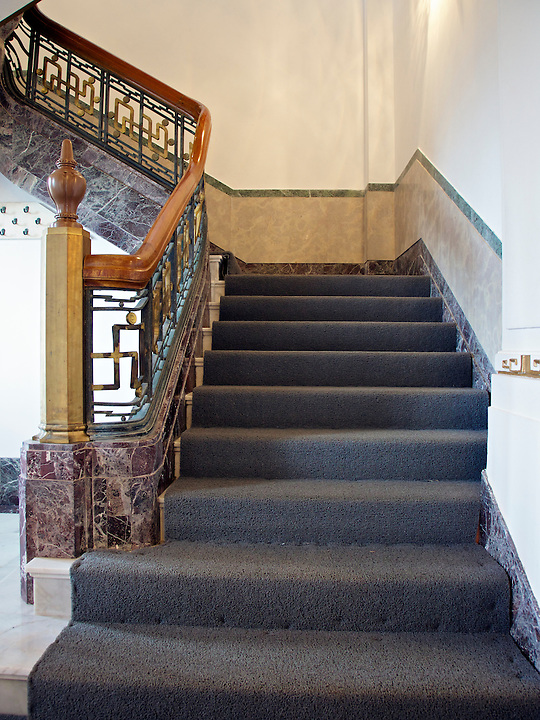 The Mansion's main staircase.
