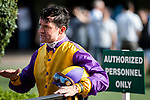 DEL MAR, CA: July 28: Kent Desormeaux after winning the Grade I Clement L Hirsch Stakes at Del Mar Thoroughbred Club on July 28, 2019 in Del Mar, California (Photo by Chris Crestik/Eclipse Sportswire)