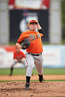 Pitcher Graeme Stinson (26) of Norcross High School in Norcross, Georgia playing for the Baltimore Orioles scout team during the East Coast Pro Showcase on July 28, 2015 at George M. Steinbrenner Field in Tampa, Florida.  (Mike Janes/Four Seam Images)