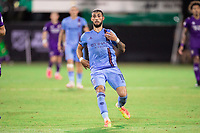 LAKE BUENA VISTA, FL - JULY 14: Valentin Castellanos #11 of NYCFC running towards the ball during a game between Orlando City SC and New York City FC at Wide World of Sports on July 14, 2020 in Lake Buena Vista, Florida.