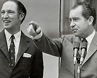 When will Pierre Trudeau tell Richard Nixon that the Ogdensburg option has no relevance today?