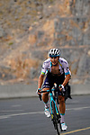 Kazakh Champion Alexey Lutsenzo (KAZ) Astana-Premier Tech attacks in the final 4km on Jais Mountain during Stage 5 of the 2021 UAE Tour running 170km from Fujairah to Jebel Jais, Ras Al Khaimah, UAE. 25th February 2021.  <br /> Picture: Eoin Clarke   Cyclefile<br /> <br /> All photos usage must carry mandatory copyright credit (© Cyclefile   Eoin Clarke)