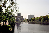 Tokyo: Moat, Imperial Palace. Photo '82.