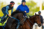 April 27, 2021:  Super Stock with trainer Steve Asmussen at Churchill Downs in Louisville, Kentucky on April 27, 2021. EversEclipse Sportswire/CSM