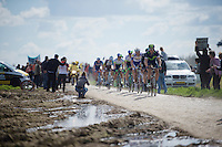 race leaders at sector 14: Tilloy à Sars-et-Rosières (2.4km) <br /> <br /> 114th Paris-Roubaix 2016