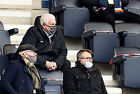 20th March 2021; Deepdale Stadium, Preston, Lancashire, England; English Football League Championship Football, Preston North End versus Luton Town; Peter Ridsdale, adviser to the owners of Preston North End, looks on from the socially distanced director's box