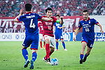 Guangzhou Midfielder Zheng Zhi (C) in action against Suwon Midfielder Damir Sovsic (R) during the AFC Champions League 2017 Group G match between Guangzhou Evergrande FC (CHN) vs Suwon Samsung Bluewings (KOR) at the Tianhe Stadium on 09 May 2017 in Guangzhou, China. Photo by Yu Chun Christopher Wong / Power Sport Images