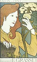 Salon des Cent, 1894 (colour lithograph), Eugene Grasset (1841-1917) / Musee des Arts Decoratifs, Paris, France