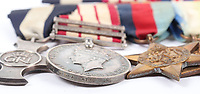 BNPS.co.uk (01202) 558833<br /> Pic: C&TAuctioneers/BNPS<br /> <br /> The survival of a navy officer and his men who were saved from being machine-gunned in the water by a brave Red Cross pilot can be revealed after his medals emerged for sale.<br /> <br /> Lieutenant Commander John Mammatt was on HMS Hareward when it was sunk five miles off Crete during the evacuation of the island in May 1941.<br /> <br /> The vessel was swarmed by feared German Stuka dive-bombers which destroyed it in an aerial barrage.