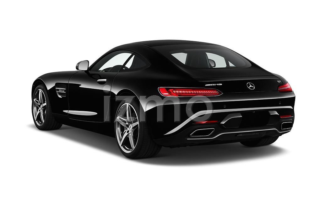 Car pictures of rear three quarter view of 2016 Mercedes Benz AMG-GT AMG-GT-S 3 Door Coupe Angular Rear
