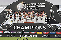Champions - New Zealand, winners of the World Test Championship Final during India vs New Zealand, ICC World Test Championship Final Cricket at The Hampshire Bowl on 23rd June 2021