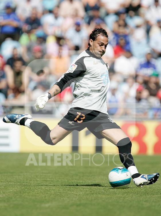 Gimnastic de Tarragona's Ruben Perez during Spain's La Liga match between Getafe and Gimnastic de Tarragona at Coliseum Alfonso Perez in Getafe, Sunday June 10, 2007. (ALTERPHOTOS/Alvaro Hernandez).