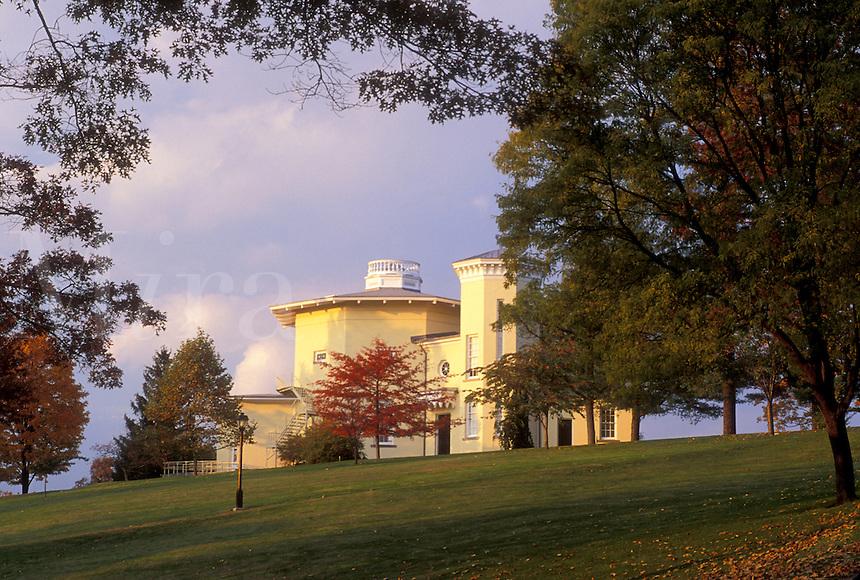 college, Amherst, MA, Massachusetts, Octagon on Amherst College campus in Amherst in the autumn.