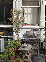 Vorgarten bei der Prinsengracht, Amsterdam, Provinz Nordholland, Niederlande<br /> front garden at Prinsengracht in Amsterdam, Province North Holland, Netherlands