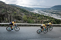 Primoz Roglic (SVK/LottoNL-Jumbo) descending<br /> <br /> 7th La Course by Tour de France 2020 <br /> 1 day race from Nice to Nice (96km)<br /> <br /> ©kramon