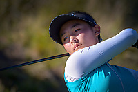 Yeonsoo Son. Day two of the Renaissance Brewing NZ Stroke Play Championship at Paraparaumu Beach Golf Club in Paraparaumu, New Zealand on Friday, 19 March 2021. Photo: Dave Lintott / lintottphoto.co.nz