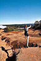 Hiking the Pihea Overlook Trail, Waimea Canyon, Kauai, Hawaii