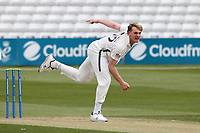 Dillon Pennington in bowling action for Worcestershire during Essex CCC vs Worcestershire CCC, LV Insurance County Championship Group 1 Cricket at The Cloudfm County Ground on 8th April 2021