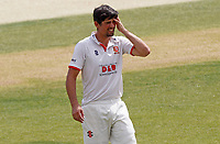 Sir Alastair Cook of Essex rubs his head whilst stopping for a drinks break during Essex CCC vs Surrey CCC, Bob Willis Trophy Cricket at The Cloudfm County Ground on 8th August 2020