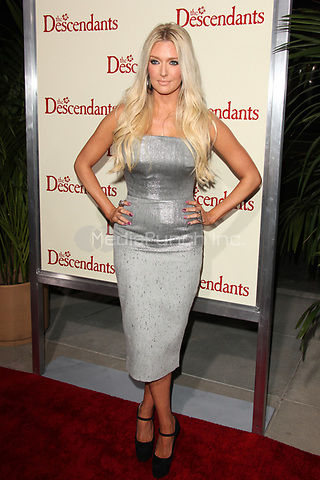 Erika Jayne at the Los Angeles Premiere of 'The Descendants' at AMPAS Samuel Goldwyn Theater on November 15, 2011 in Beverly Hills, California © mpi21/MediaPunch Inc.