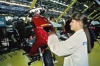 - Piaggio mopeds plant in Pontedera....- stabilimento Piaggio ciclomotori a Pontedera