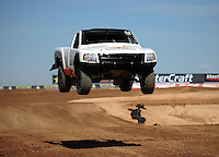 Mar. 18, 2011; Chandler, AZ, USA;  LOORRS pro 2 unlimited driver Myan Spaccarelli during qualifying for round one at Firebird International Raceway. Mandatory Credit: Mark J. Rebilas-