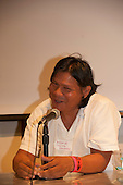 Washington DC, USA. Chico Vive conference, 5th April 2014. Hiparidi Top'tiro, Xavante tribal leader.