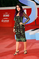 The Italian singer Giulia Penna poses for photographers on the red carpet of the 15th edition of Rome film Fest.<br /> Rome (Italy), October 15th 2020<br /> Photo Samantha Zucchi Insidefoto