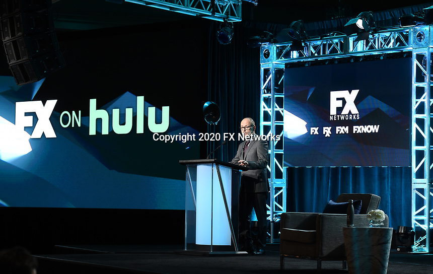 """PASADENA, CA - JANUARY 9: John Landgraf, Chairman, FX Networks & FX Productions attends the """"Executive Session"""" during the FX Networks presentation at the 2020 TCA Winter Press Tour at the Langham Huntington on January 9, 2020 in Pasadena, California. (Photo by Frank Micelotta/FX Networks/PictureGroup)"""