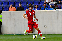 Harrison, NJ - Friday July 07, 2017: Lucas Cavallini during a 2017 CONCACAF Gold Cup Group A match between the men's national teams of French Guiana (GUF) and Canada (CAN) at Red Bull Arena.
