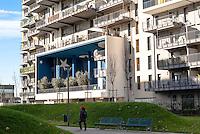 Milano, quartiere Affori, periferia nord. Villaggio Cooperativo Scarsellini --- Milan, Affori district, north periphery. Cooperative village Scarsellini