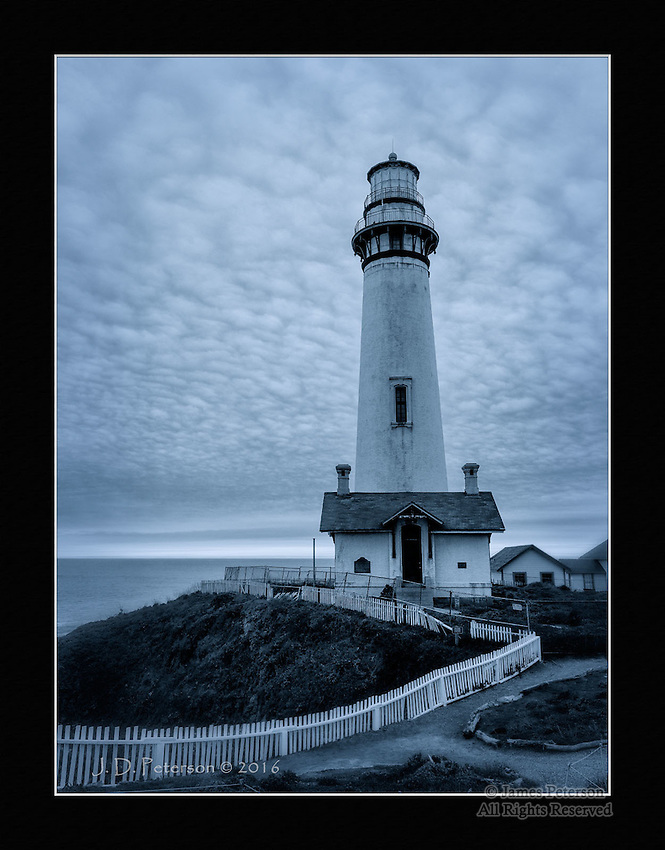 The Pigeon Point Light, California (Monochrome)