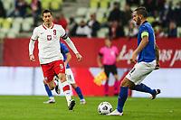 11th October 2020, The Stadion Energa Gdansk, Gdansk, Poland; UEFA Nations League football, Poland versus Italy;  Robert Lewandowski POL chases Leonardo Bonucci ITA