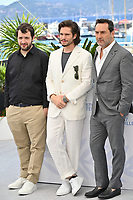 CANNES, FRANCE. July 13, 2021: Karim Leklou, Francois Civil & Gilles Lellouche at the photocall for Bac Nord at the 74th Festival de Cannes.<br /> Picture: Paul Smith / Featureflash