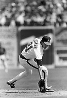 Wally Joyner of the California Angels during a 1988 season game at Anaheim Stadium,in Anaheim,California.(Larry Goren/Four Seam Images)