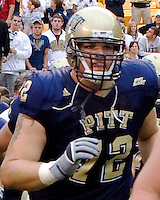 Pittsburgh offensive lineman Chase Clowser, September 6, 2008