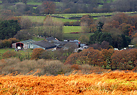 Pictured: The farm where the house that burned is located in Llangammarch Wells, Powys, Wales, UK. Tuesday 31 October 2017<br />
