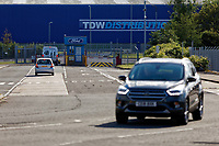 Pictured: A Ford car drives out of the Ford engine plant in Bridgend, Wales, UK. Thursday 06 June 2019<br /> Re: An announcement on the proposed closure of Ford's Bridgend plant will be made today (Thursday).<br /> Ford Europe and bosses from the United States will meet union leaders at its Essex headquarters.<br /> The plant employs 1,700 workers from across south Wales.