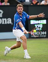 18-06-13, Netherlands, Rosmalen,  Autotron, Tennis, Topshelf Open 2013, ,Stanislas Wawrinka<br /> <br /> Photo: Henk Koster