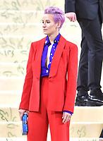 "NEW YORK, NEW YORK - SEPTEMBER 13: Megan Rapinoe at the 2021 Met Gala benefit ""In America: A Lexicon of Fashion"" at Metropolitan Museum of Art on September 13, 2021 in New York City. Credit: John Palmer/MediaPunch"